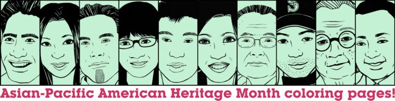 Asian-Pacific American Heritage Month coloring pages